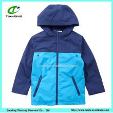 2016 горячая распродажа пользовательские весна синий цвет дети куртки