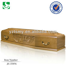gorgeous carving for italian coffin with golden metal handles