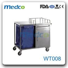 WT008 Meilleur prix! Chariot de chariot de nettoyage pour hôpitaux en acier inoxydable