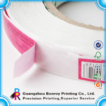 Woodfree paper printing custom vinyl sticker roll wholesale