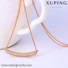 C204172-41847 Xuping haute qualité collier de couleur rose doré