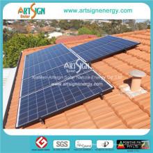 Énergie solaire, montage solaire sur le toit