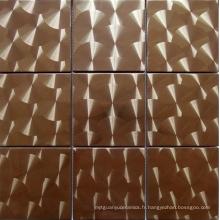 Carrelage en mosaïque métallique en acier inoxydable (SM247)