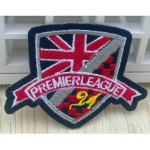 Cool style nice embroidery woven patch for down shirt