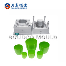 Plastic flower planting pot injection mold