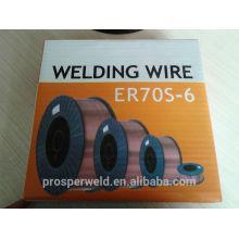 Alta qualidade Aws a5.18 Mig co2 soldagem fio ER70S-6 0.8 / 0.9 / 1.0 / 1.2 / 1.6mm Fabricante para o fio de solda co2 Mig