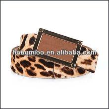 Hot Leopard Grain PU Leather Waistband Fashion Accessory Belts