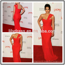 Red One Shoulder Mermaid Floor Length Custom Made Red Carpet Celebration Dresses KD011 kim kardashian dress