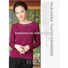 Женщины мода свитер /100% кашемир пуловер