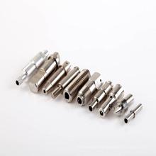 Peças de torneamento, feitas de aço inoxidável, aço, alumínio ou cobre