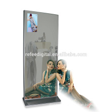 55inch floor stand digital signage totem , dressing mirror built in windows OS