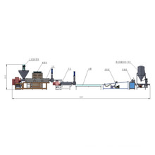 PE пленки PP вертикальной силы кормления пластиковые гранулятор рециркуляции машина