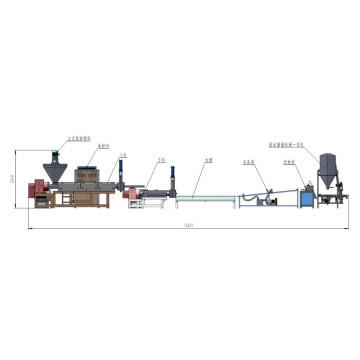 Film de PP PE verticale force granulateur de recyclage plastique alimentation Machine