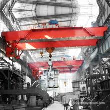 pont roulant pour louche transmettant dans un atelier de fonderie