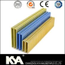 Galvanizado Pneumatic 90 Series Staples for Roofing, Furnituring, Construcción