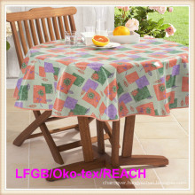 Printed PVC Tablecloth LFGB Grade/Okotex-100