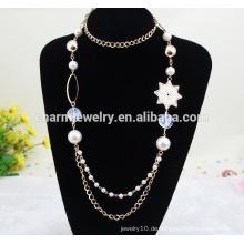 2015 NK011 Perlen-Ketten-Art- und Weisestrickjacke-Kettengeometrie-lange Großhandelsstrickjacke-Ketten-beiläufige Art lange Halskette