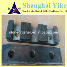 Concasseur à mâchoires 750x1060 Wedge Utilisation de fer pour plaque de mâchoire pivotante