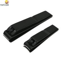 Conjunto de manicure de viagem, conjunto de cortador de unhas afiadas de aço inoxidável preto