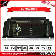 Windows Ce navegador de navegación GPS reproductor de DVD para BMW X3 F25 con vídeo Hualingan