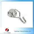 60 LBS crochet magnétique pivotant permanent