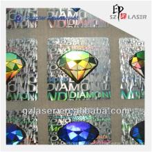 Hologramm-Aufkleberhersteller mit kundenspezifischem Firmenlogoentwurf