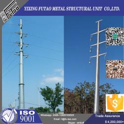 132Kv High Voltage Electric Polygonal Steel Pole