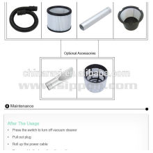 Bolsa de filtro de polvo blanco para el uso del aspirador