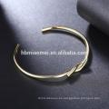 Pulseras al por mayor plateadas oro oval de la muchacha de los brazaletes del oro al por mayor del OEM