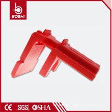 Пластмассовый регулируемый шаровый клапан (BD-F05 ~ F07), регулируемый для труб диаметром 13 мм - 70 мм, блокировка безопасности BD-F05