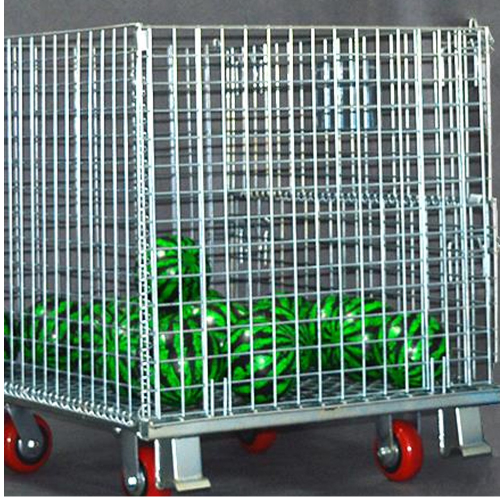 Stacking Collapsible Steel Wire Mesh Storage Cage
