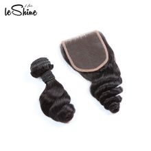 Wholesale Dropship Virgin Indian Mink Cuticle Aligned Hair Bundle With Closure