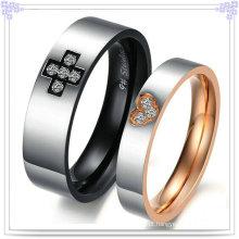 Jóias de aço inoxidável moda presente casal anéis (SR542)