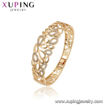 52166 xuping 18 K cor do ouro cobre moda ambiental grandes pulseiras