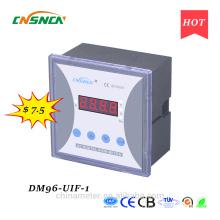 DM96-UIF-1 panneau de taille 96 * 96mm monophasé à courant continu d'un usage industriel numérique volt ampère et hertz compteur combiné