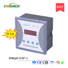 DM96-UIF-1 panel size 96*96mm single-phase ac one led industrial usage digital volt ampere and hertz combined meter
