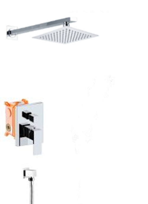 Shower Mixer Shower Faucet Shower Valve With 8 Rain Shower And 3 Function Hand Shower