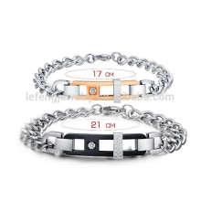 venta al por mayor pareja pulsera chapada en oro rosa, pulseras de moda tendencias calientes de la joyería 2015