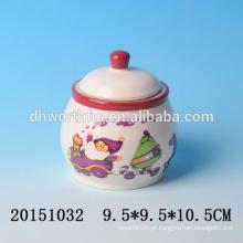 Encantador frascos de cerâmica de Natal condimento