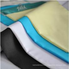 China supplier Vários tecidos de algodão poliéster camisa cinza bolso de tecido