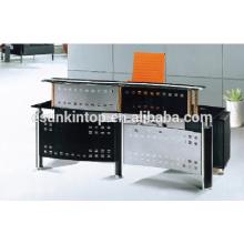 Mesa de recepção de vidro temperado para escritório, fabricante de móveis de escritório Foshan, Venda de móveis de escritório (P6001)