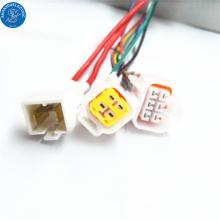 Industria electrónica de la industria manufacturera automotriz arnés de cableado estándar 6pin conector de revestimiento