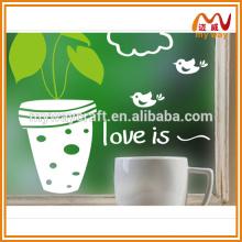 2016 stickers autocollants décoratifs mignons en pot pour verre