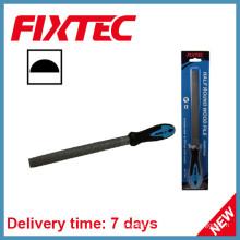 """Fixtec Hand Tools 8 """"- Archivo de madera redonda y semicircular de 200 mm"""