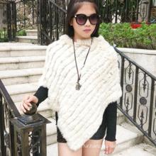 Complete production line real fashion rabbit fur shawl