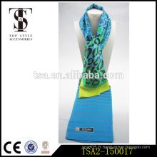 Accessoires de style supérieur 100% soie pure femmes longues en écharpe de style écharpe en soie