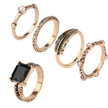 Кольцо оптового африканского способа ювелирных изделий способа установило кольцо в золоте 18k