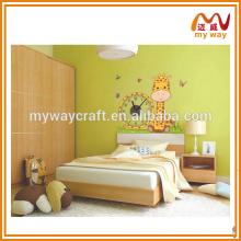 Etiqueta da parede da girafa kawaii, papel de parede da decoração do quarto