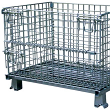 Warehouse Stackable Steel Wire Mesh Pallet Cages