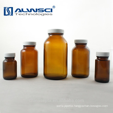 500ML amber moulded vial with white black PP cap